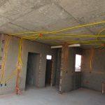 Tubulação elétrica e hidráulica salão de festas